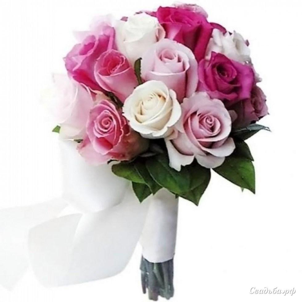 Букет невесты ника с розами, цветы купить орел